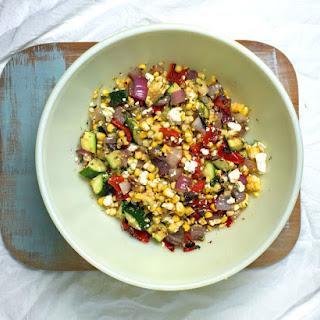 Grilled Greek Corn Salad