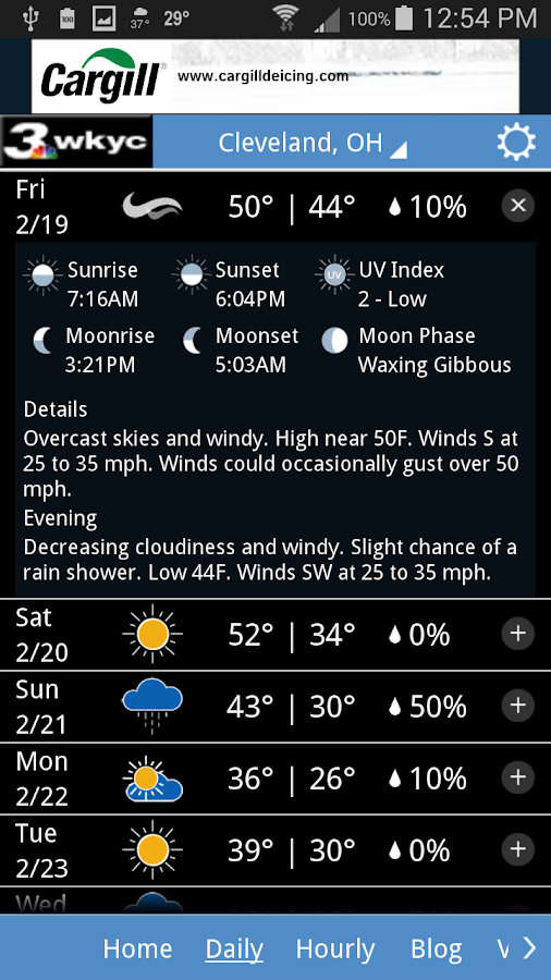 WKYC Weather- screenshot