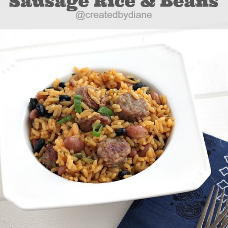 Sausage Rice and Beans (30 minute meal)