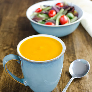 Ginger Butternut Carrot Soup {Vegan}