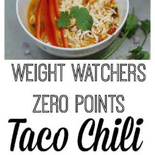 Weight Watchers Under 2 Points Taco Chili.