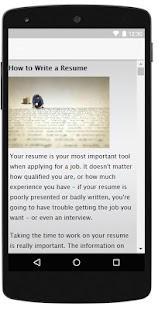Resume Templates - náhled