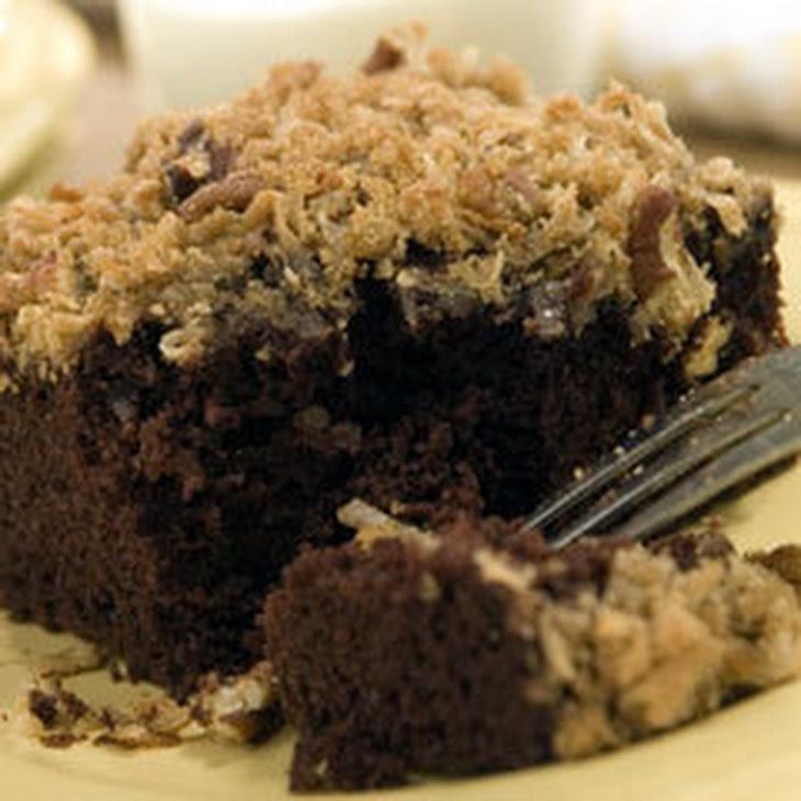 Track Pass Coconut Pecan Chocolate Cake Recipe