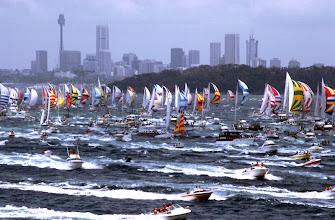 Foto: Australien, Sydney, 1979, Start des Sydney-Hobart-Rennens (Australia, Sydney, 1979, start of the Sydney-Hobart race) © Eckhard Supp