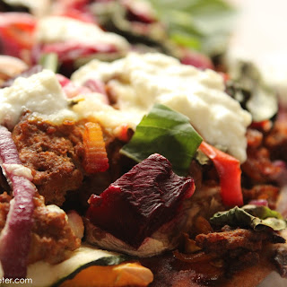 Spiced Beef, Roasted Beetroot And Vegetable Pizza