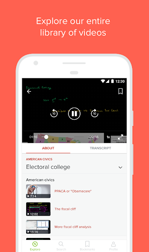 Screenshot 3 for Khan Academy's Android app'