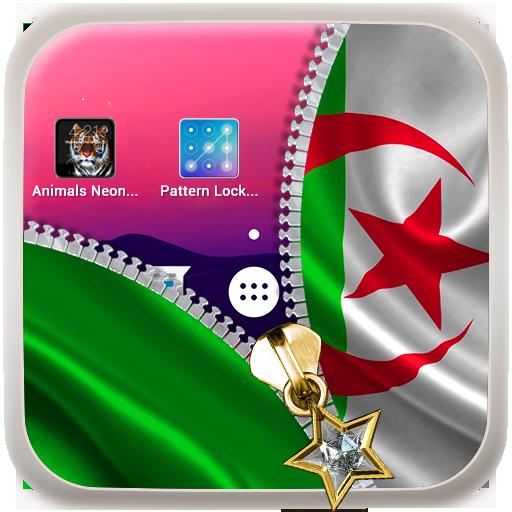Algeria Flag Zipper LockScreen