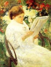 "Photo: Mary Cassat, ""Donna che legge in giardino"" (1880)"