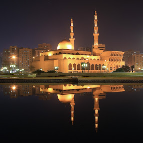King Faisal Mosque by Salman Ahmed - Buildings & Architecture Places of Worship ( masjid, mosque, long exposure, night )