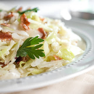Creamed Cabbage with Bacon.