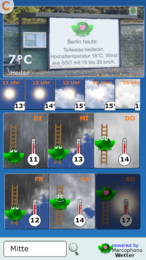 Wetterfrosch – Screenshot
