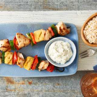 Cilantro-Lime Pineapple Chicken Skewers.