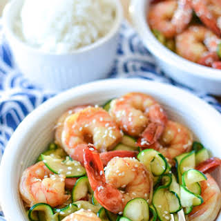 5 Ingredient Honey Garlic Shrimp.