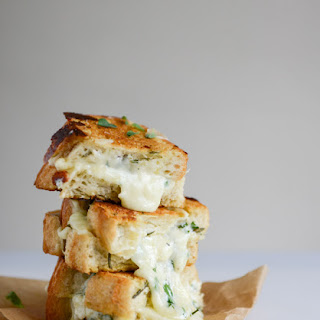 White Pizza Grilled Cheese Recipe