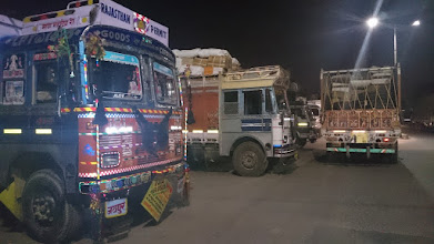 Photo: our hotel was in a street, where constuction material stores were located and there was a lot of traffic at night as the lorries were probably not allowed at day time