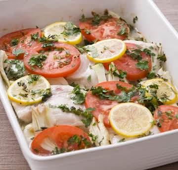 Herb-baked Swordfish