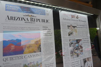 Photo: 5/1 front pages at Newseum