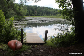 Photo: Dock along the trail at Lowell Lake State Park by Jess Lubas