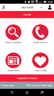 RCSI MyHealth- screenshot thumbnail