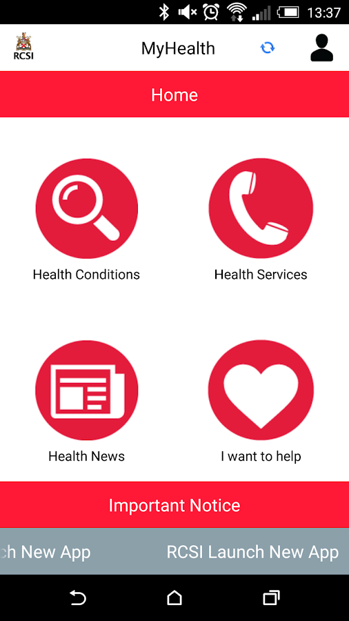 RCSI MyHealth- screenshot