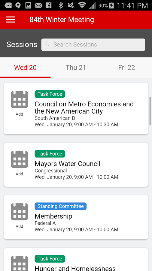 U.S. Conference of Mayors- screenshot