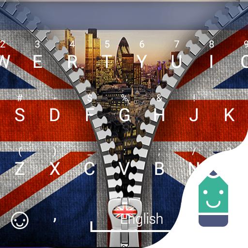 Zipper UK Flag Theme Keyboard