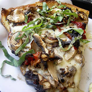 Weight Watchers Grilled Mushroom Pizza.