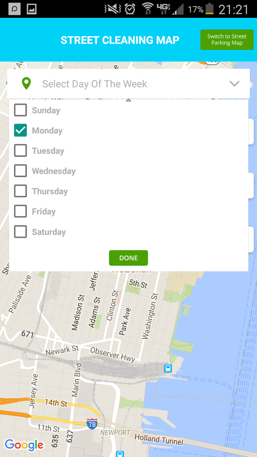Hoboken Parking Helper (Free)- screenshot