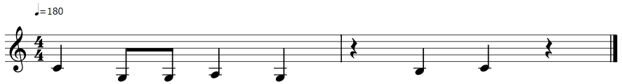 Music bars illustrating the notes.