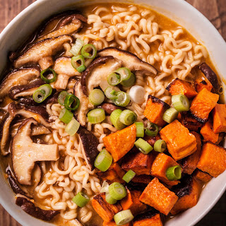 Miso Ramen with Roasted Vegetables