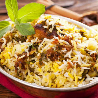 Hyderabadi Mutton Gosht Biryani With Kohinoor Gold Basmati Rice
