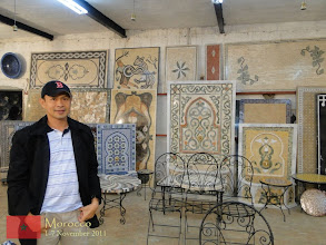 Photo: at the ceramic factory in Fes