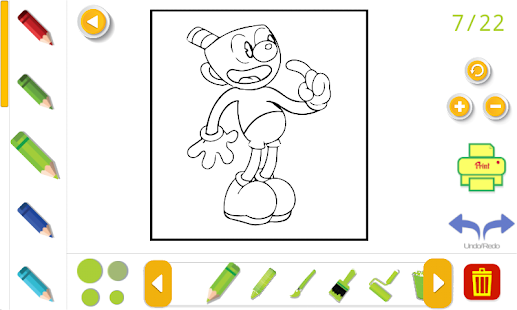 cuphead coloring book - náhled
