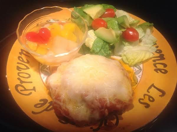 Jeanne's Hamburger Patty Parmigiana