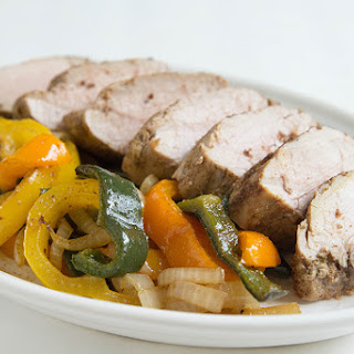 Roasted Pork Loin with Peppers
