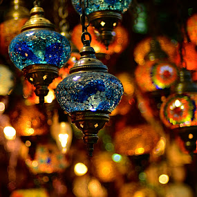 Lanterns by Mauritz Janeke - Artistic Objects Antiques ( lights, store, dubai, blue, lanterns,  )