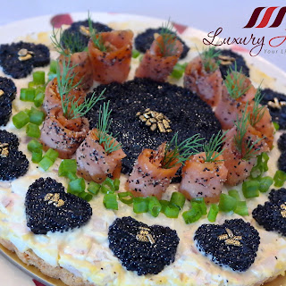 Mother's Day Savory Smoked Salmon Caviar Tart