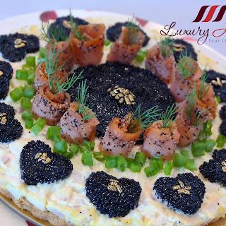 Mother's Day Savory Smoked Salmon Caviar Tart