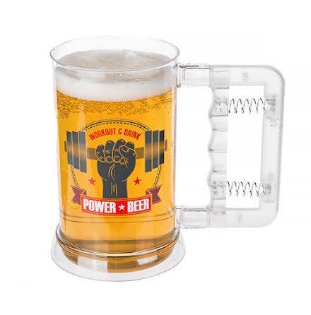 Ölmugg, plast power beer