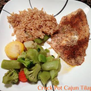 Crock Pot Cajun Tilapia.