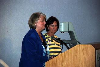 Photo: Alumnae, Mary Jo and Lynn, welcome Western alumni.