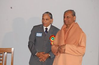 Photo: Swami Ji with Babu Ram Yadav