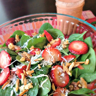 Strawberry Spinach Salad with Strawberry Vinaigrette.