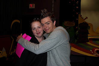 Photo: Kevin being all sentimental with Laura