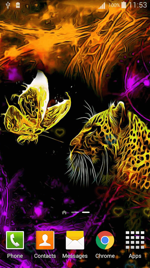 3d Parallax Weather Live Wallpaper Neon Animals Wallpaper Android Apps On Google Play