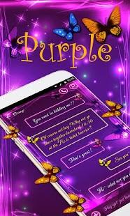 (FREE) GO SMS PURPLE THEME - náhled