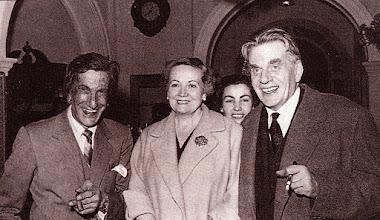 Photo: El matrimoni Toldra amb el seu gran amic, el violinista Francesc Costa © Family Archive (Mdm. Narcisa Toldrà)