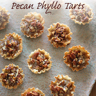 Mini Pecan Phyllo Tarts Recipe