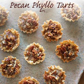 Mini Pecan Phyllo Tarts.