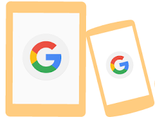 Assorted mobile devices with Google servicves